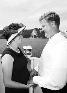 Trauung auf einem Schiff mit Blick auf die Ostsee und die Kreidefelsen