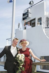 Trauung auf einem Schiff auf Rügen